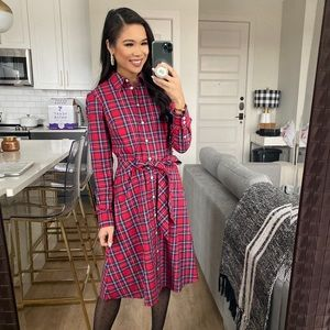 Draper James Plaid Button-Down Dress